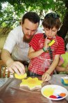 Тато з сином творять))))